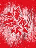 红色白色花卉抽象构成 免版税库存照片