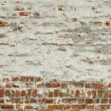 红色白色葡萄酒砖墙白涂料框架背景纹理 库存照片