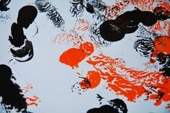 红色白色黑灰色油漆contasts,形状,水彩背景 库存图片