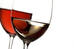 红色白葡萄酒 库存图片
