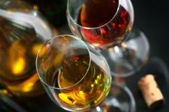 红色白葡萄酒 免版税库存照片
