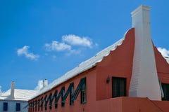 红色百慕大大厦 库存图片