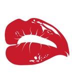 红色的嘴唇 免版税库存照片