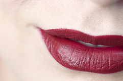红色的嘴唇 图库摄影