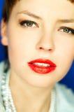 红色的嘴唇 免版税库存图片