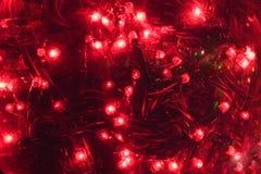 红色的圣诞灯 库存图片