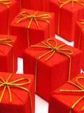 红色的圣诞节礼物 免版税库存照片
