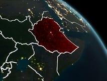 红色的埃塞俄比亚在晚上 皇族释放例证