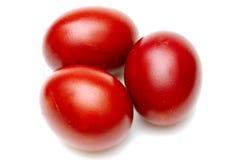 红色的复活节彩蛋 免版税库存照片