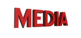 红色的媒体 库存例证