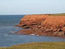 红色的峭壁 库存图片