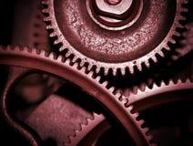 红色的嵌齿轮 免版税库存照片