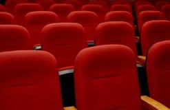 红色的扶手椅子 库存图片