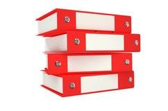红色的文件夹 免版税库存图片