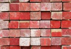 红色的木料被绘 免版税库存图片