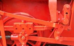 红色的机械工 库存照片