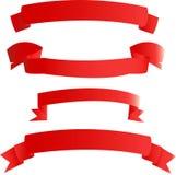 红色的横幅 免版税库存照片