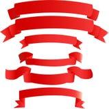 红色的横幅 免版税库存图片