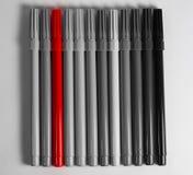 红色的毡尖笔引人注意 免版税库存图片