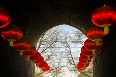 红色的灯笼 免版税库存照片
