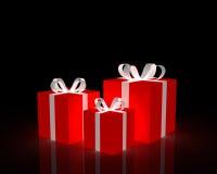 红色的礼品 免版税库存图片
