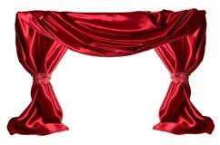 红色的窗帘 免版税图库摄影