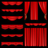 红色的窗帘 免版税库存照片