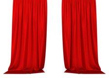 红色的窗帘 皇族释放例证