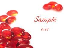 红色的药片 免版税库存照片