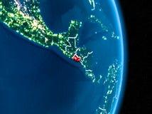 红色的萨尔瓦多在晚上 库存图片