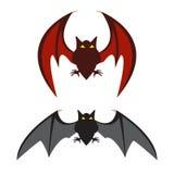 红色的蝙蝠和黑棒 库存图片