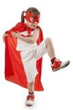 红色的超级英雄女孩 免版税库存图片