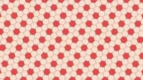 红色的足球和bink六角背景和纹理 库存例证