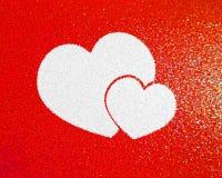 红色的重点 abstract card valentine 免版税库存图片