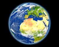 红色的阿尔及利亚从空间 免版税库存照片