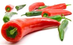 红色的青椒 免版税库存照片