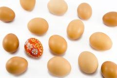 红色的鸡蛋被绘 免版税图库摄影