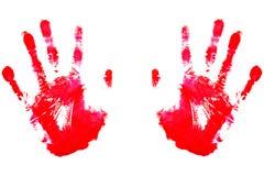 红色的handprints 免版税库存图片