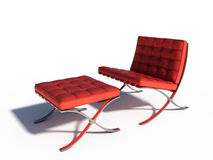 红色皮椅 库存图片