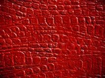 红色皮革纹理 库存照片
