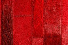 红色皮革补缀品 库存图片