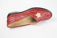 红色皮鞋 库存图片