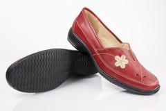 红色皮鞋 库存照片