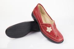 红色皮鞋 图库摄影