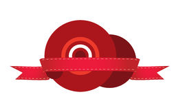 红色目标。 简单和好的例证。 库存图片