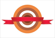 红色目标。 简单和好的例证。 免版税库存图片