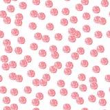红色短上衣小点无缝的样式 免版税图库摄影