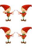 红色矮子-指向用糖果 免版税库存图片