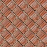 红色石墙的片段的无缝的样式 图库摄影