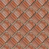 红色石墙的片段的无缝的样式 免版税库存图片